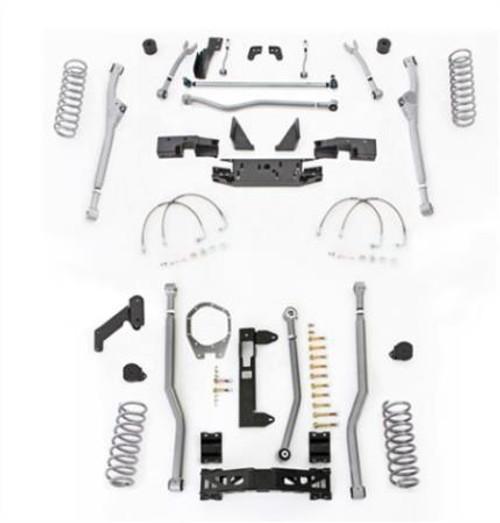 Rubicon Express 4.5 Inch JK Unlimited Lift Kit Extreme Duty Long Arm System 3 Link No Shocks 07-18 Jeep Wrangler JKU 4 Dr JKR344