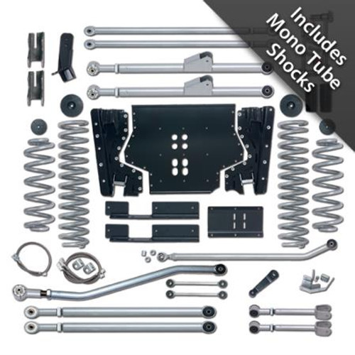 Rubicon Express 3.5 Inch LJ Lift Kit Extreme Duty Long Arm System W/Mono Tube Shocks 04-06 Wrangler LJ RE7223M