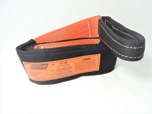 Factor 55 Tree Saver Strap 8 Foot 3 Inch Black/Orange 00077-