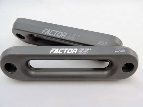 Factor 55 Hawse Fairlead 1 Inch Thick Gun Metal Gray 00016-
