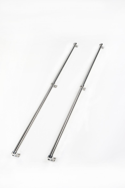 Perrycraft Mini Tube Truck Bed Rail Set 88 Inch Express Stainless Steel MTR MR-E88-S
