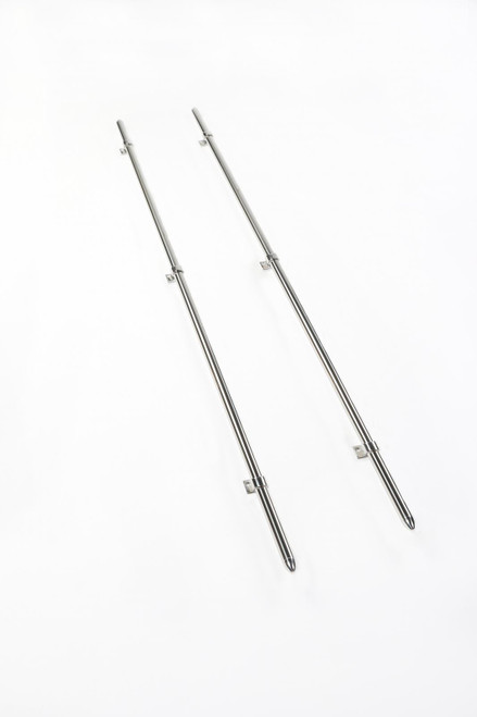 Perrycraft Mini Tube Truck Bed Rail Set 48 Inch Bullet Stainless Steel MTR MR-B48-S