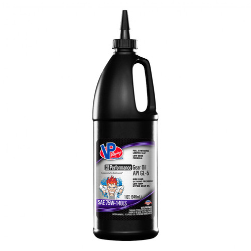 VP Racing Fuels VP GL 5 Full Syn SAE 75W 140 Hi Perf Gear Oil Quart Retail Bottle 2707