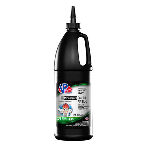 VP Racing Fuels VP GL 5 SAE 80W 140 Hi Perf Gear Oil Quart Retail Bottle 2705