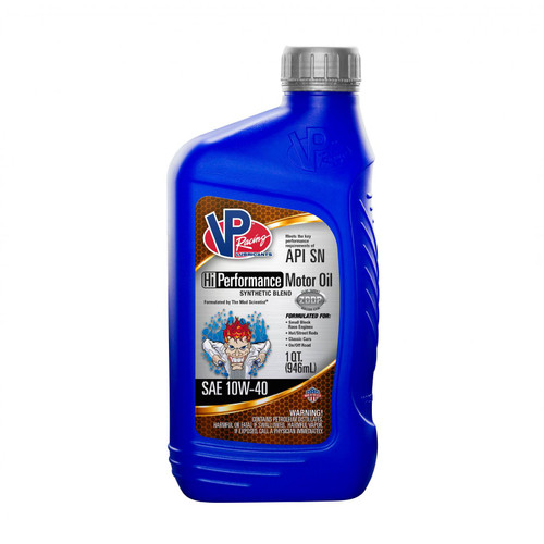 VP Racing Fuels 10W 40 Synthetic Blend HI PerformanceMotor Oil Quart Bottle 2965
