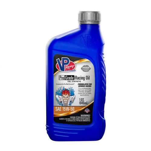 VP Racing Fuels 15W 50 Synthetic Oil Full Synthetic Pro Grade Racing Oil Case of 12 Quarts 2757