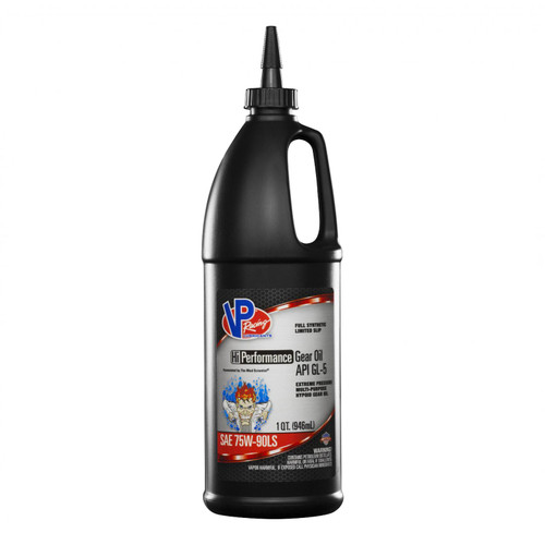 VP Racing Fuels 75W 90 HI PerformanceGear Oil Full Synthetic GL 5 Quart Bottle 2885