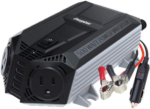 Energizer 500 Watt Power Inverter 12V DC to AC, 4 x 2.4A USB Charging Ports, EN548