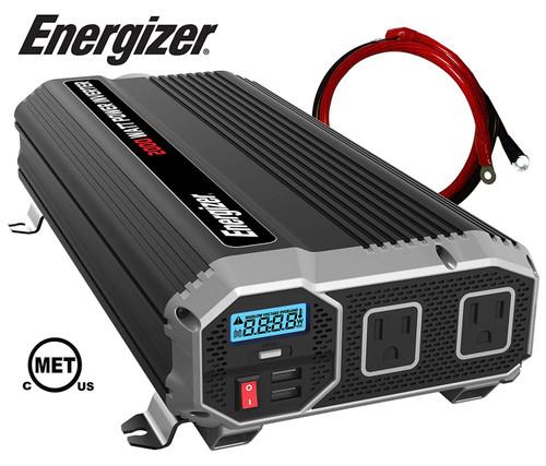Energizer 2000 Watt 12V Power Inverter, Dual 110V AC Outlets ENK2000