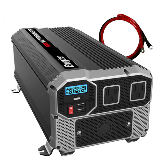 Energizer 4000 Watt 12V Power Inverter, Dual 110V AC Outlets ENK4000