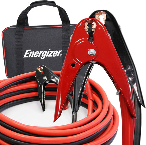 Energizer 2 Gauge 800A Heavy Duty Jumper Battery Cables 16 Ft Booster Jump Start ENB216