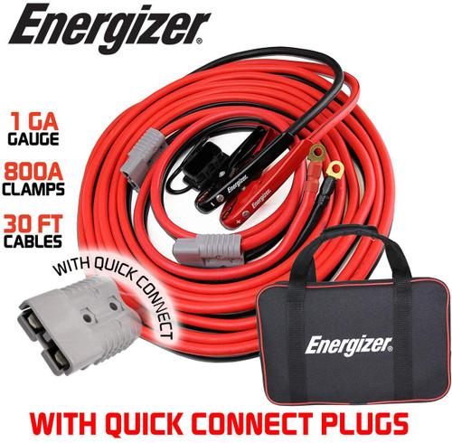 Energizer 1 Gauge 800A Permanent Installation kit Jumper Battery Cables ENB130A