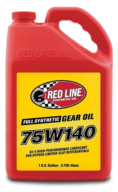 Red Line Oil 75W140 Gear Oil Synthetic GL-5 Differential Gear Oil 16 Gallon Red Line Oil 57917