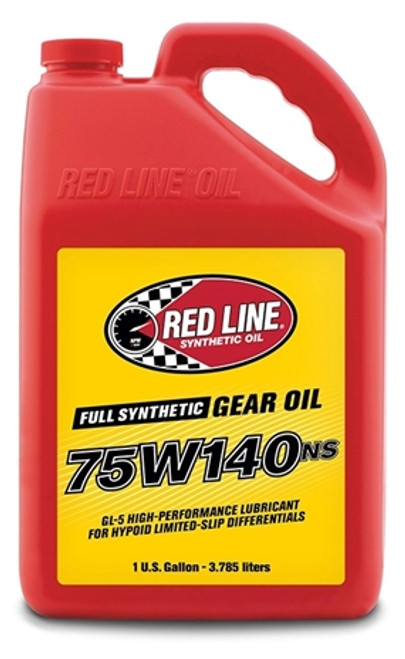 Red Line Oil 75W140NS Gear Oil Synthetic GL-5 Differential Gear Oil 16 Gallon Red Line Oil 57107