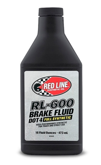 Red Line Oil Synthetic Brake Fluid DOT 4 RL-600 16oz Red Line Oil 90402