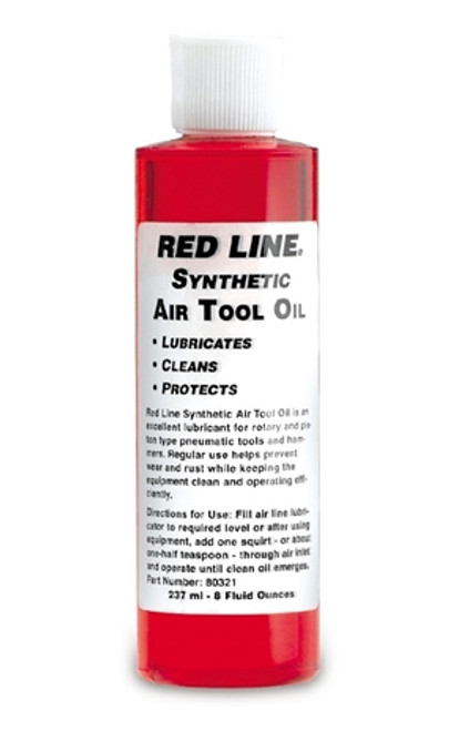 Red Line Oil Air Tool Oil 8oz Red Line Oil 80321