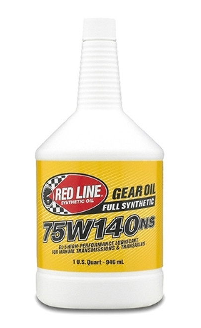 Red Line Oil 75W140NS Gear Oil Synthetic GL-5 Differential Gear Oil 1 Quart Red Line Oil 57104