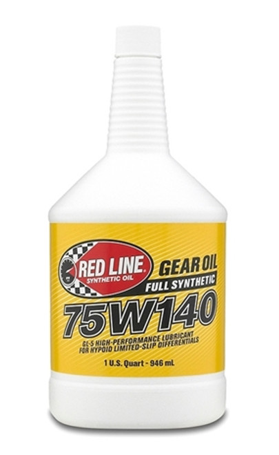 Red Line Oil 75W140 Gear Oil Synthetic GL-5 Differential Gear Oil 1 Quart Red Line Oil 57914