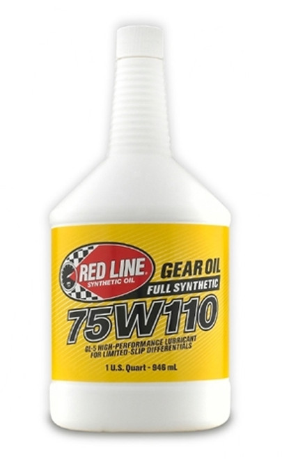 Red Line Oil 75W110 Gear Oil Synthetic GL-5 Differential Gear Oil 1 Quart Red Line Oil 57804