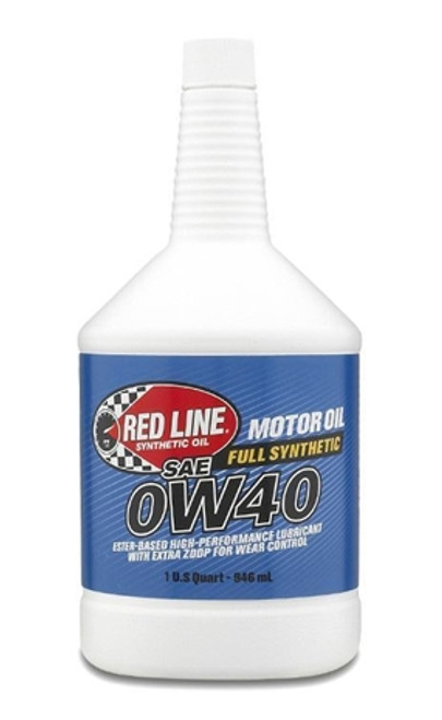 Red Line Oil 0W40 Synthetic Motor Oil 1 Quart Red Line Oil 11104