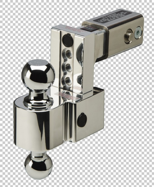 Fastway Trailer ALBM adj. alum. ball mount, built-in locks, 4'' drop fits 2.5'' receiver, stnls DT-ALBM6425-2S