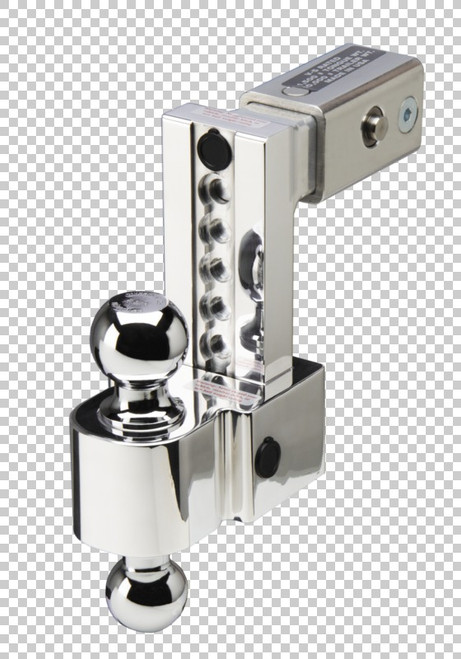 Fastway Trailer ALBM adj. alum. ball mount, built-in locks, 6'' drop fits 2.5'' receiver, stnls DT-ALBM6625-2S