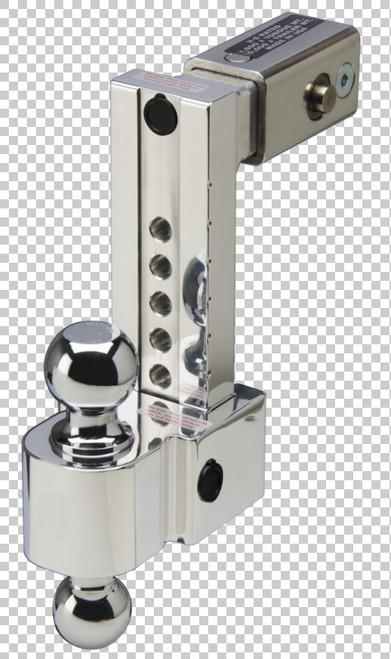 Fastway Trailer ALBM adj. alum. ball mount, built-in locks, 8'' drop fits 2.5'' receiver, stnls DT-ALBM6825-2S