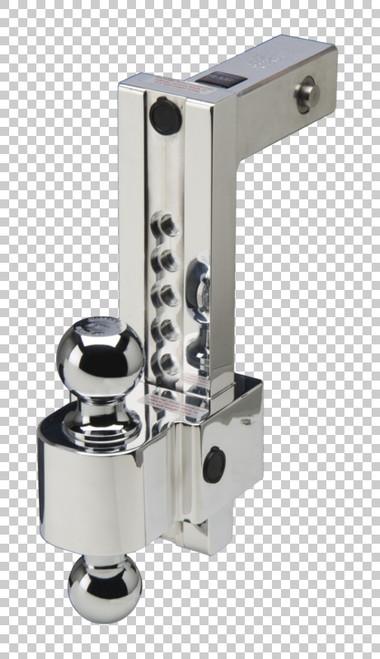 Fastway Trailer ALBM adj. alum. ball mount, built-in locks, 10'' drop 11'' rise, 2'' & 2-5/ DT-ALBM7000