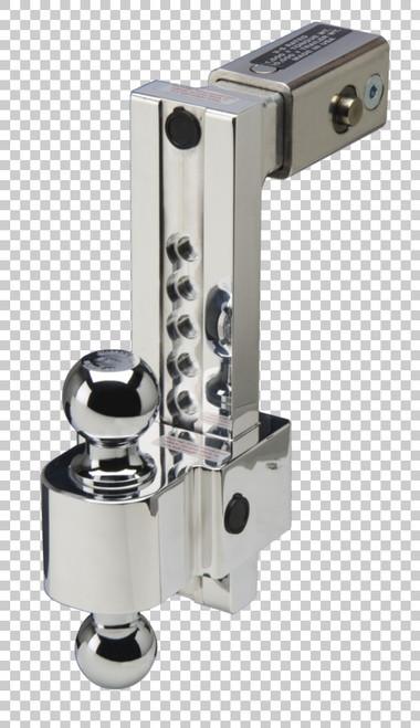 Fastway Trailer ALBM adj alum ball mount, built-in locks, 10'' drop fits 25'' receiver, stnls DT-ALBM7025-2S