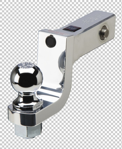 Fastway Trailer Alum ball mount with integrated lock system 4'' drop 3'' rise, 1-1/4'' ball hol DT-LBM9400
