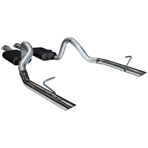 Flowmaster Cat-back System - Dual Rear Exit - American Thunder - Aggressive Sound - Ford Mustang 17213