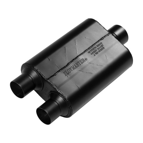 Flowmaster 40 Series Muffler - 2.50 Dual Inlet / 3.00 Center Outlet - Aggressive Sound 425403