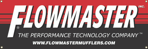 Flowmaster Flowmaster Large Banner 84 in. X 24 in. 651703