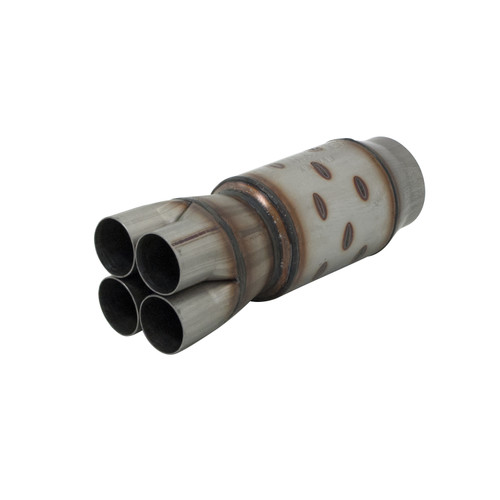 Flowmaster Outlaw II Race Muffler-409S-2.25in. Center In / 4in. Center Out-Aggressive Sound 8214400