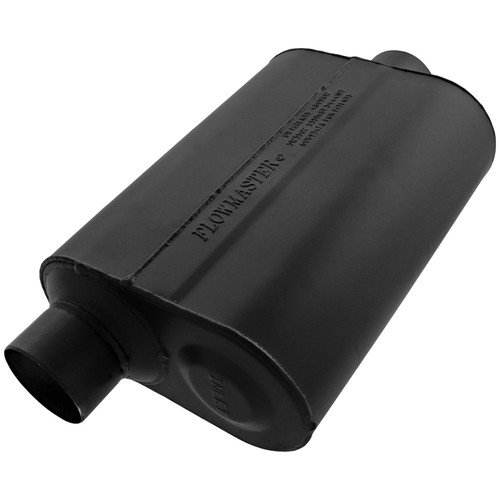 Flowmaster Super 40 Muffler - 2.50 Offset In / 2.50 Center Out - Aggressive Sound 952546