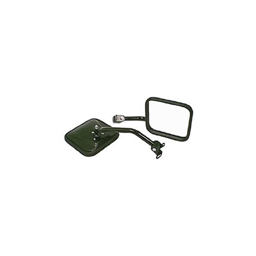 Rugged Ridge CJ-Style Side Mirror Kit, Black; 87-95 Jeep Wrangler YJ 11001.07