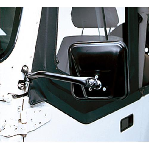 Rugged Ridge CJ-Style Side Mirror Kit, Black; 97-06 Jeep Wrangler TJ 11001.08