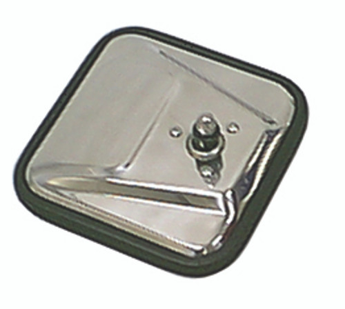 Rugged Ridge CJ-Style Mirror Head, Stainless Steel, Left; 55-86 Jeep CJ Models 11006.01