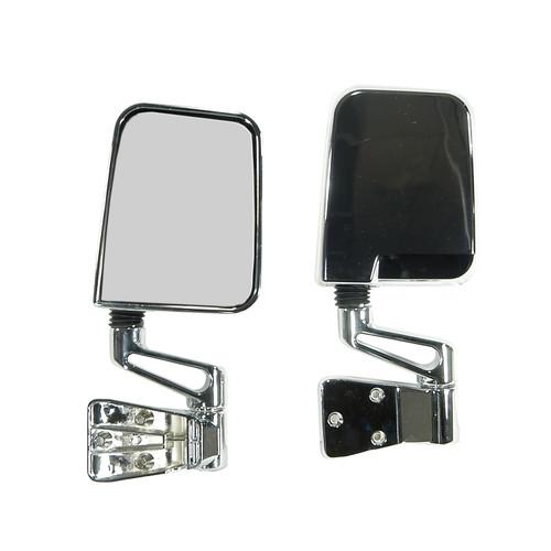 Rugged Ridge Door Mirror Kit, Chrome; 87-02 Jeep Wrangler 11010.04