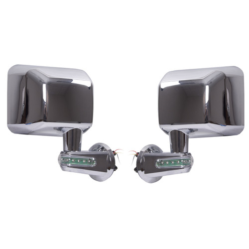 Rugged Ridge Door Mirrors with LED Turn Signals, Chrome; 07-16 Jeep Wrangler JK 11010.16