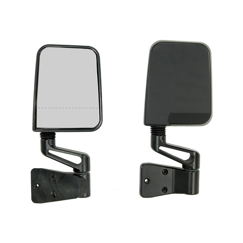 Rugged Ridge Door Mirror Kit, Dual Focus, Black; 87-02 Jeep Wrangler 11017.01