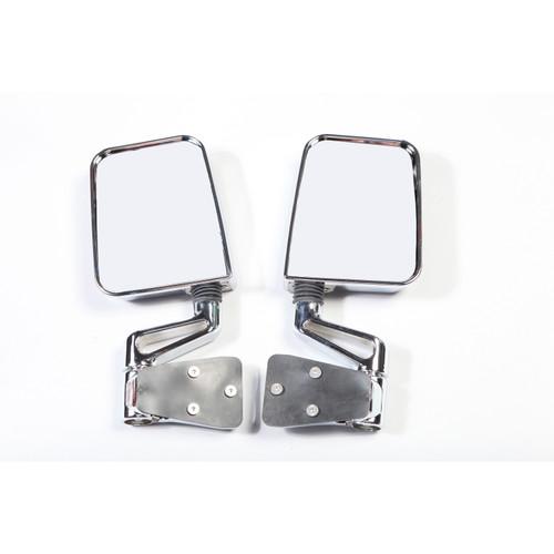 Rugged Ridge Door Mirror Kit, Dual Focus, Chrome; 87-02 Jeep Wrangler 11018.01