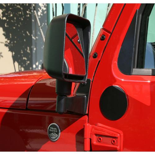 Rugged Ridge Mirror Relocation Brackets, Black; 07-16 Jeep Wrangler JK 11025.04