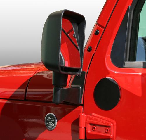 Rugged Ridge Mirror Filler Plates, Pair; 07-16 Jeep Wrangler JK 11025.05