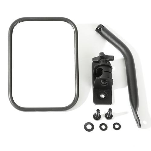 Rugged Ridge Quick Release Mirror, Textured Black, Rectangular; 97-16 Jeep Wrangler 11025.18