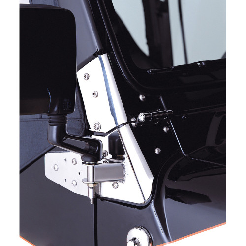 Rugged Ridge Mirror Relocation Brackets, Stainless Steel; 97-06 Jeep Wrangler TJ 11026.02