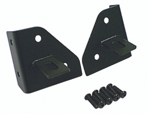 Rugged Ridge Windshield Light Mounting Brackets; 76-95 Jeep CJ/Wrangler YJ 11027.01