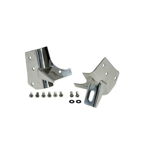 Rugged Ridge Windshield Light Brackets, Stainless Steel; 97-06 Jeep Wrangler TJ 11028.02