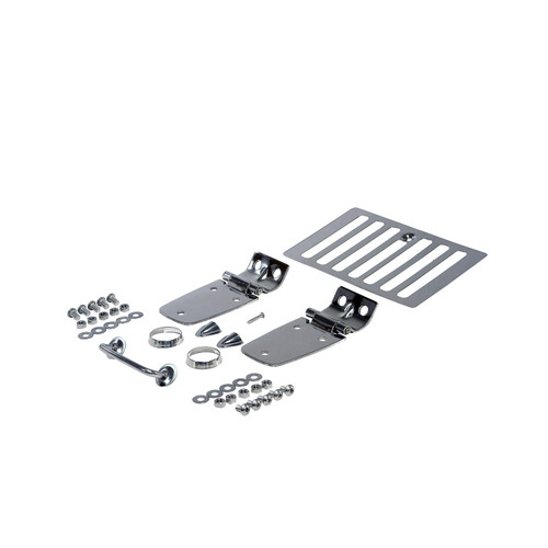 Rugged Ridge Complete Hood Kit, Stainless Steel; 98-06 Jeep Wrangler TJ 11101.03