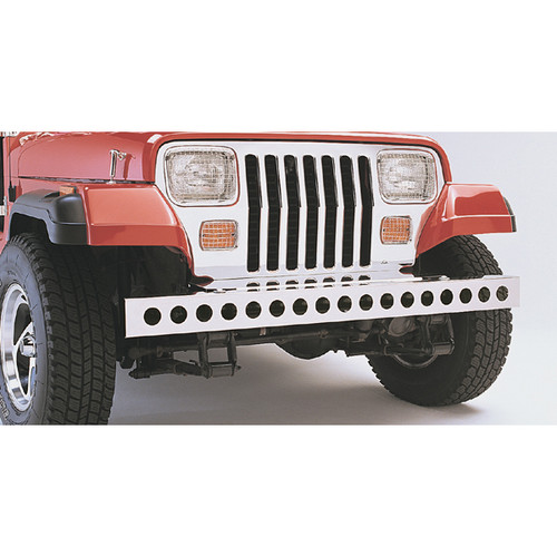 Rugged Ridge Stainless Steel Front Bumper; 87-95 Jeep Wrangler YJ 11107.02